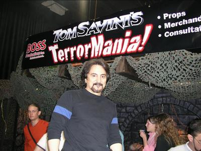2004 Transworld Haunter Section - Tom Savini at the TerrorMania booth - Picture