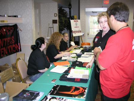 2005 Midwest Haunters Convention - MHC Registration Table - Picture