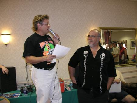 2005 Midwest Haunters Convention - MHC Auction - Consultant services of 'Haunt Guru' John Burton are auctioned off. - Picture