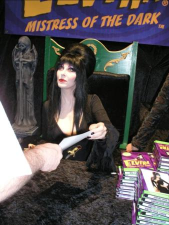 Celebrities at the 2005 Transworld Show - Elvira Mistress of the Dark - Picture