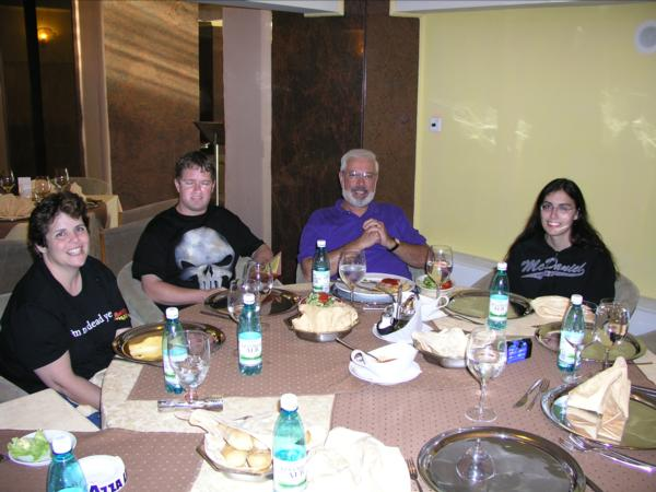 Bucharest, Romania - Our first dinner in Romania - Picture