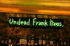 This sign is in reference to the previous owner of the property, Frank, when it used to be a bar called �Stand-up Franks�.