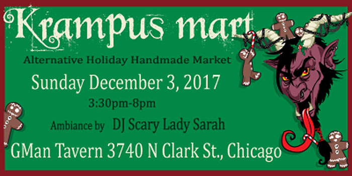 Krampus Mart alternative holiday market at Township restaurant and bar (Chicago, IL)