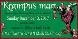 Krampus Mart alternative holiday market at Township restaurant and bar (Chicago, IL)