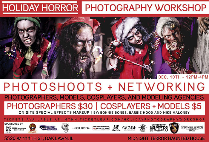 Holiday Horror Photography Workshop at Midnight Terror Haunted House (Oak Lawn, IL)