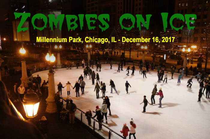 Zombies on Ice at Millennium Park in Chicago, IL