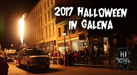 HauntedIllinois.com visits Galena, Illinois in 2017 for the 39th Annual Galena Halloween Parade.