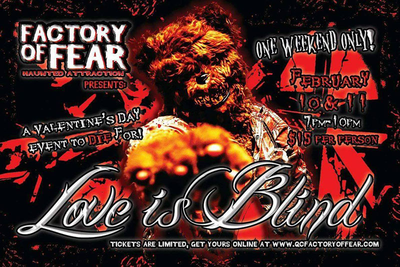 Love is Blind at the Factory of Fear Haunted House (Moline, IL)