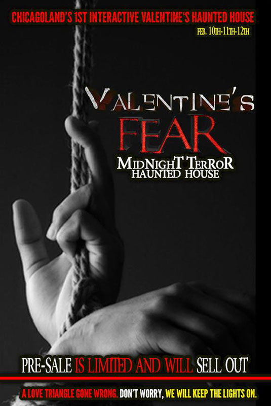 Valentine's Fear at the Midnight Terror Haunted House (Oak Lawn, IL)