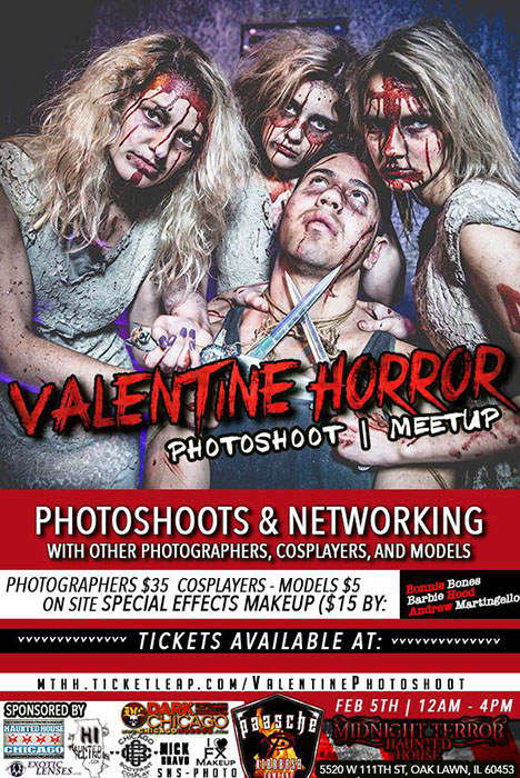 Valentine Horror Photo Shoot at the Midnight Terror Haunted House (Oak Lawn, IL)