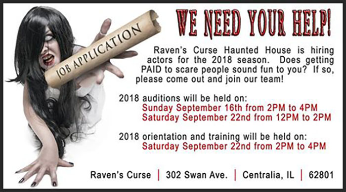 Raven's Curse Haunted House in Centralia, IL