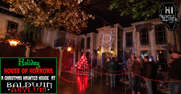 "Read our review of Baldwin Asylum's Christmas haunted house ""Holiday House of Horrors"", including video clips and more than 75 pictures!"