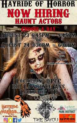 Hayride of Horror and Curse of the Bayou in Lockport, IL.