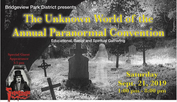 HauntedIllinois.com's review of the Unknown World of the Paranormal Convention, presented by the Bridgeview Park District.