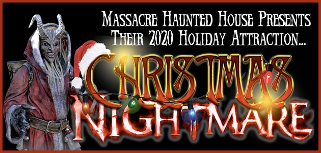 This holiday season, the staff of HauntedIllinois.com had the opportunity to visit Massacre Haunted House's holiday attraction