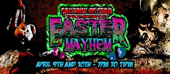 Easter Mayhem is a one of a kind event in the Quad Cities. Navigate through the haunted house while Tutsi's bunnies wait to pounce when you least expect it. Bright colors and fake grass aren't part of this Easter celebration however there will be a prize involved for some lucky victims...