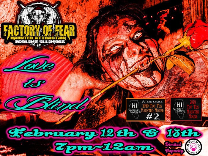 Love Is Blind at the Factory of Fear in Moline, IL.