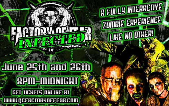 Factory of Fear in Moline, IL presents their zombie haunt called Infected.