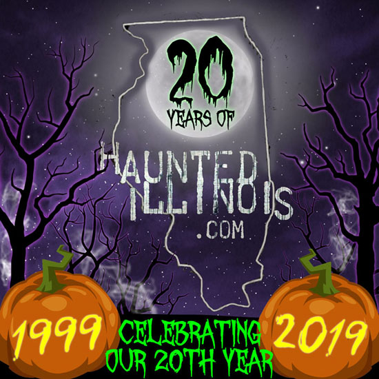 HauntedIllinois.com is celebrating its 20th year anniversary! Click here to find out more about the origin and history of the website.