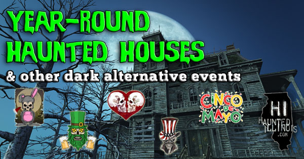 Several haunted houses have announced special opening dates in the off-season in 2021. Some haunted attractions are opening for Valentine's Day, Easter, Memorial Day and more! This list also includes year-round haunted houses.  Click on this banner to see when special events are open near you!