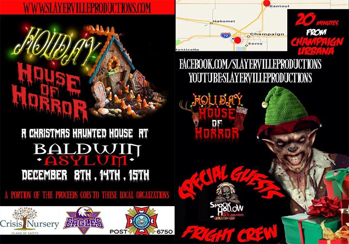 Holiday House of Horror at Baldwin Asylum in Rantoul, IL