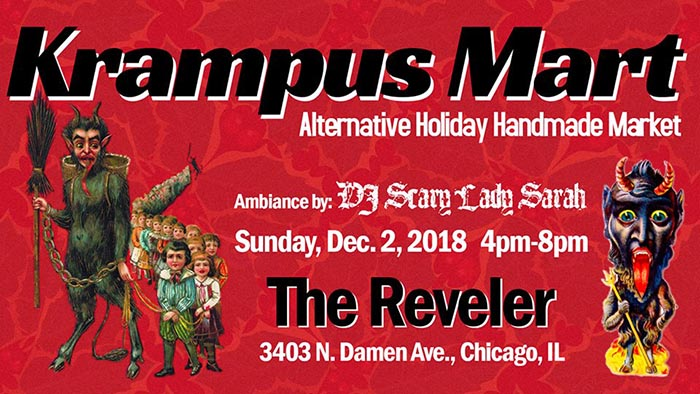 Krampus Mart 2018 at The Reveler in Chicago, IL.