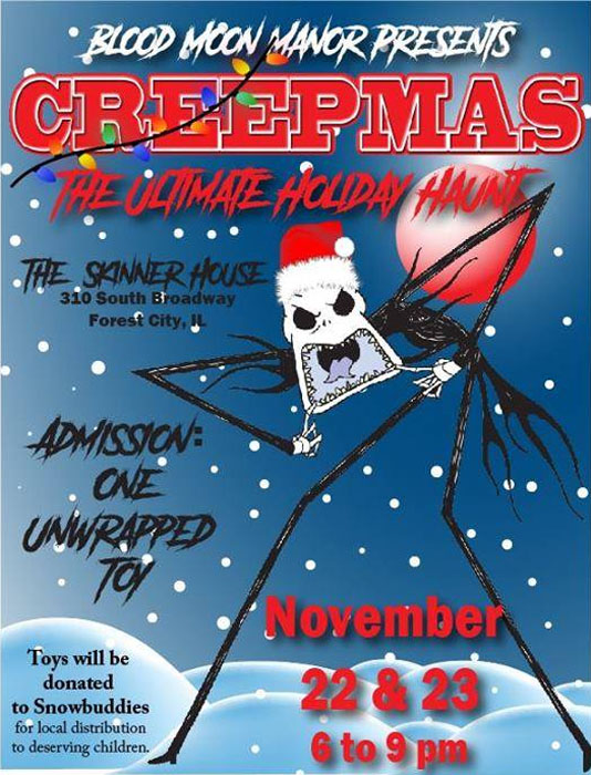 Creepmas: A holiday haunt at Blood Moon Manor in Forest City, IL.