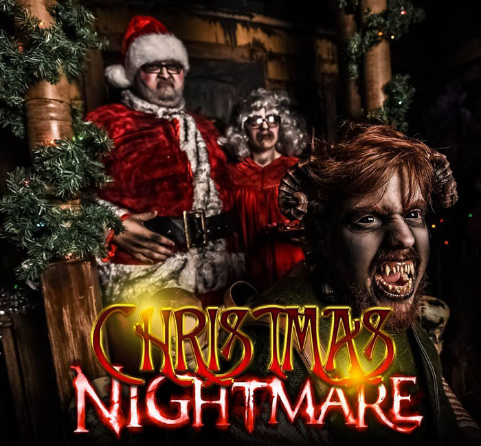 Christmas Nightmare presented by Massacre Haunted House in Montgomery, IL.