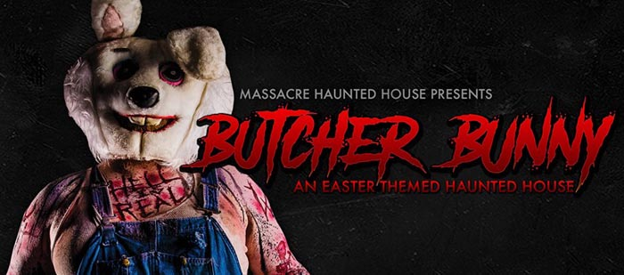 Butcher Bunny: Interactive Easter Haunted House at the Massacre Haunted House in Montgomery, IL.