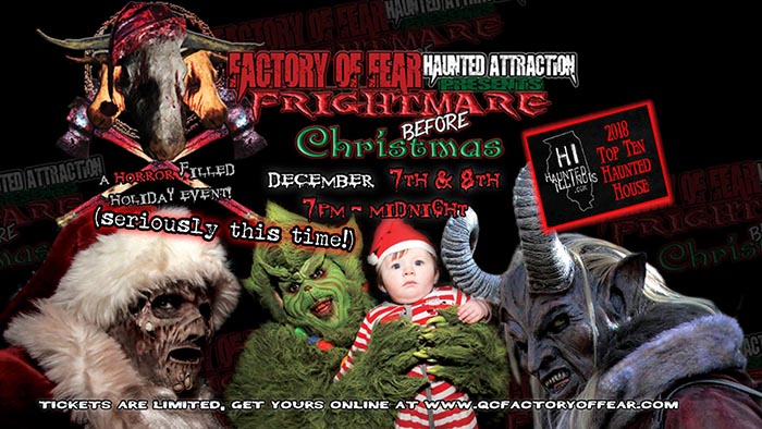 Frightmare Before Christmas at the Factory of Fear Haunted House in Moline, IL.