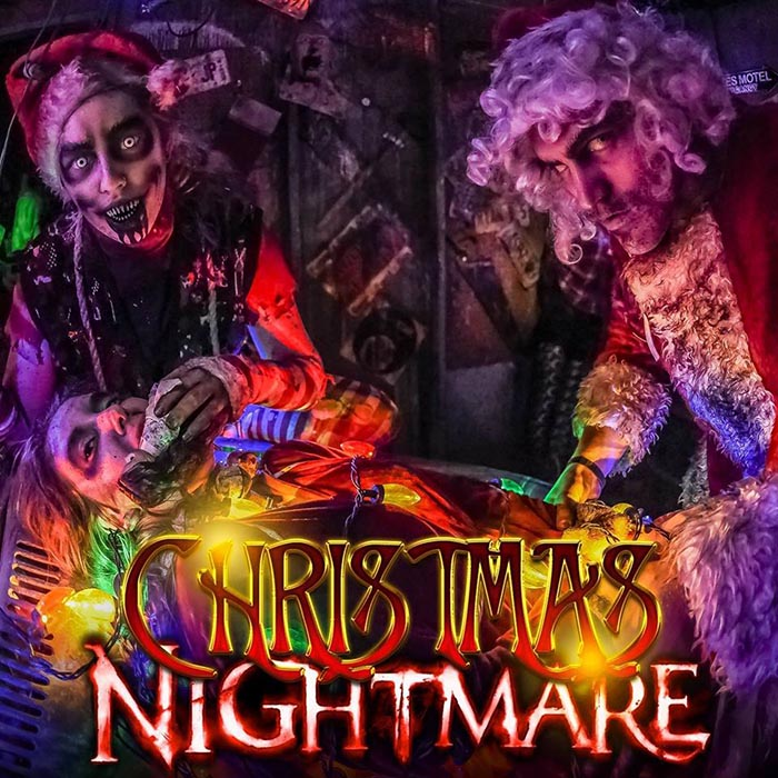 Christmas Nightmare at Massacre Haunted House in Montgomery, IL.