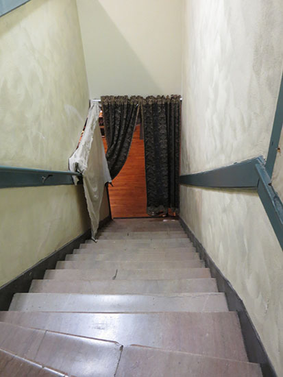 The Jasmine Lady is said to haunt this staircase. The smell of her perfume has been reported in this area with several people believing they have encountered her spirit.