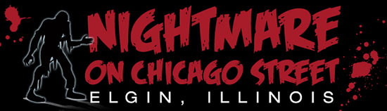 HauntedIllinois.com's Official Review of 2017 Nightmare on Chicago Street, a zombie street party in Elgin, Illinois, written by Kevin Biksacky.