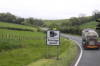 One of the many speed camera signs that we saw posted on the main highways.