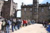 The long line to see the Scottish Crown Jewels.